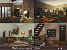 evi's Mediterranean country village.. Italy Spain, Kilim Runner, Sims Community, Electronic Art, City Living, House Interiors, Big Family, Tuscany, Country