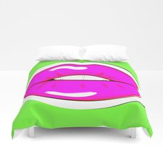 Buy Kiss Me #buyart #popart #kissme #society6 Duvet Cover by beebeedeigner. Worldwide shipping available at Society6.com. Just one of millions of high quality products available.