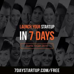 7 days 1 challenge: get started!  Join @thedannorris and 14 other digital entrepreneurs for a master class in getting your next project off the ground. Head over to 7daystartup.com/free to sign up now!  Make 2016 the year you crush your goals!