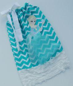 Frozen Queen Elsa Pillowcase Dress by Janslittlehearts on Etsy, $29.95