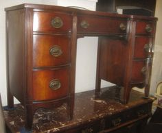 Duncan Phyfe Mahogany Desk....Could Be Used As A Vanity Or For
