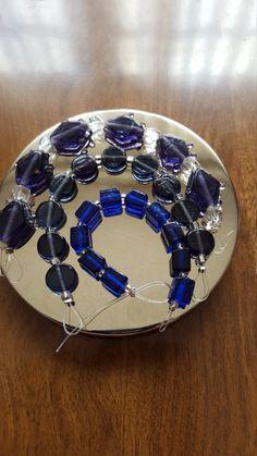 Vintage glass Beads jewelry supply craft by MadeByMargPlus on Etsy