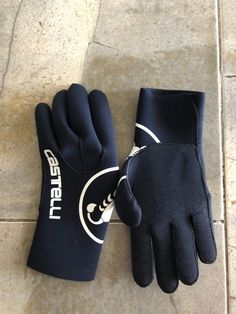245274184 NEW Castelli Diluvio Gloves waterproof winter wind black L XL Large  fashion   clothing