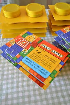 Convites Especial - Tema Lego