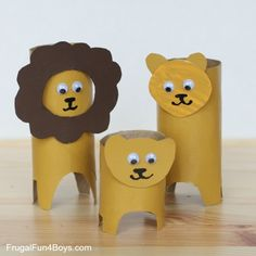 animales con tubos de papel omo hacer el leon