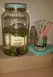 Mason Jar / Glazen kan met kraantje
