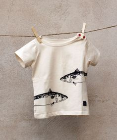 EM Mackerel T-shirt Children SS - emma och malena