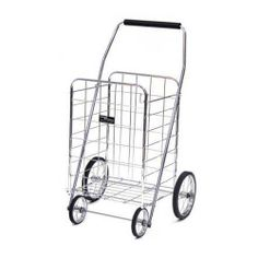 Cart - Easy Wheel Jumbo Shopping Laundry Cart - Chrome by The Storage Store. $69.29. pliable plastic grip handle for easy pushing or pulling. 4 solid genuine rubber tires for easy portability. easy to assemble. lightweight tubular steel frame. Perfect for transporting groceries up long flights of stairs or laundry down nearly endless hallways, this Easy Wheel Shopping Laundry Cart by Narita Trading Company makes life so much easier. Featuring a lightweight tubular steel frame a...