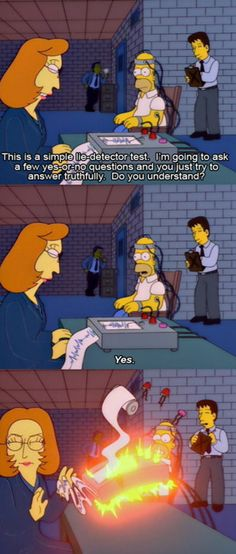 Homer with Mulder, Scully and cigarette smoking guy