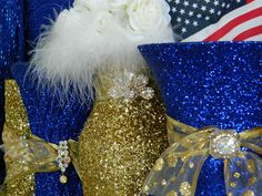 Royal Blue And Gold Wedding Decorations Blue Yellow Weddings, Blue Gold Wedding, Bronze Wedding, Gold Weddings, Blue Bridal, Gold Wedding Centerpieces, Wedding Reception Decorations, Party Centerpieces, Centerpiece Ideas
