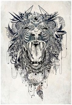 This would make a badass back piece or thigh tattoo | best stuff