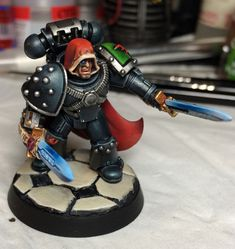 Page 9 of 11 - Lostrael's Dark Angels - posted in + DARK ANGELS +: Because you are using Milliput, you can run a file along the edges to sharpen them up a bit. For what its worth though, I think it came out very well indeed - lovely rich red too!