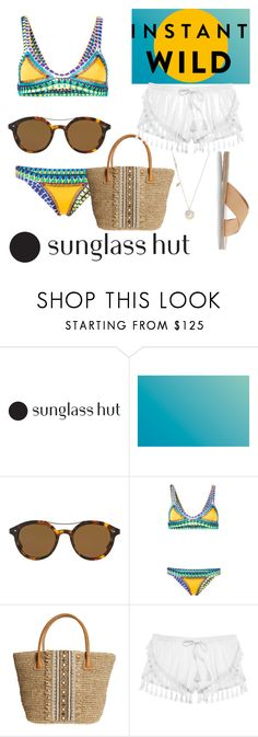"""Shades of You: Sunglass Hut Contest Entry"" by paigeromano ❤ liked on Polyvore featuring Giorgio Armani, kiini, Skemo, Victoria's Secret, Ancient Greek Sandals and shadesofyou"