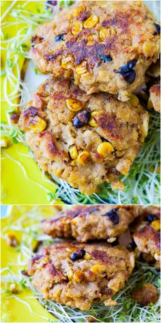Corn Chip-Crusted Southwestern Salmon Cakes with Creamy Lemon Chili Sauce - A Southwestern twist on salmon cakes. Loaded with bold flavor & hearty texture! Fast & easy to make!
