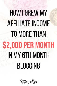 High payingaffiliate programsfor bloggers - How I make money from affiliate marketing - blog income report