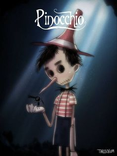 Andrew Tarusov is the artist behind this 'If Tim Burton Directed All Disney Classic Movies' project. Although we all love the classic cute and colorful Disney look, the dark and eerie Tim Burton style is awesome! Disney Tim Burton, Tim Burton Art Style, Tim Burton Stil, Tim Burton Kunst, Film Tim Burton, Tim Burton Characters, Classic Disney Characters, Classic Disney Movies, Disney Classics