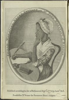 Phillis Wheatley, frontispiece, Poems on Various Subjects, Religious and Moral (London: Printed for A. Bell, bookseller, Aldgate; 1773). Library of Congress, Rare Book and Special Collections Division. Read book online at: http://memory.loc.gov/cgi-bin/ampage?collId=ody_rbcmisc&fileName=ody/ody0215/ody0215page.db&recNum=0