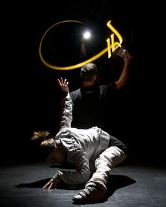 Julien Breton's Arabic light calligraphy, in conjunction with the dance and music crew Compagnie Cortex