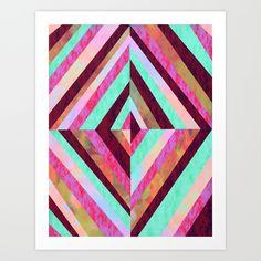 PATTERN {Diamond 001} Art Print by Schatzi Brown   Society6