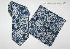 425b24771a9c Men's Liberty print tie Navy blue wedding necktie. Skinny floral tie Navy  slim neck tie. William Morris design- Lodden navy