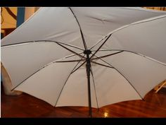 How to recover an umbrella or parasol.