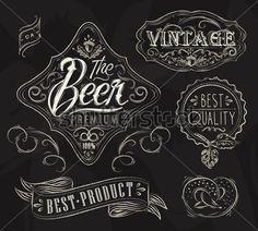 estilo tiza etiqueta cerveza - Buscar con Google