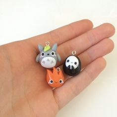 Chubby Kawaii Totoro Charm, Studio Ghibli Jewelry, My Neighbour... ($8.15) ❤ liked on Polyvore featuring jewelry, pendants, charm jewelry, clay charms, charm pendant, clay jewelry and ghibli