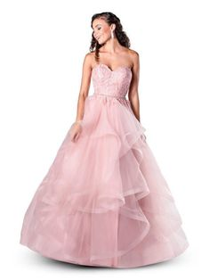 In store now Colour: Rosewater Size: 4 Strapless Dress Formal, Prom Dresses, Formal Dresses, Mori Lee Prom, Blush Prom, Dress First, Ball Gowns, Colour, Bridal