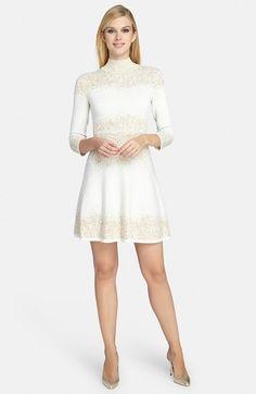 Catherine Catherine Malandrino 'Daisey' Metallic Jacquard Dress available at #Nordstrom