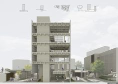 La idea es generar un espacio social y académico en el barrio de Palermo, contenido en torno a una gran plaza. El edificio como un hito.