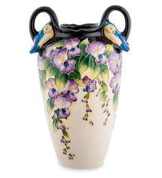 """Ваза для цветов из фарфора """"Глициния"""" BS-33 / Коллекция Blue Sky / Вазы, кашпо, цветы / Каталог / R-Gifts – интернет магазин подарков и сувениров.  #decor #gift #giftidea #pavone #porcelaine #vase #vases #ваза #вазадляцветов #вазы #подарок #фарфор"""