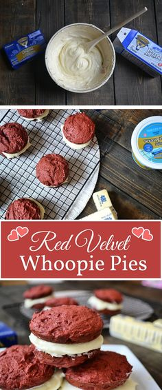 Filled with a sweet cream cheese frosting, our red velvet whoopie pies will surely satisfy your Valentine's sweet tooth!