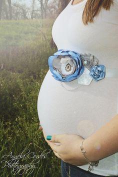 Maternity Sash Baby Boy - Blue, Grey, White Maternity Sash, Bridal Sash, Belt, Headband, Wedding -  Photo Prop