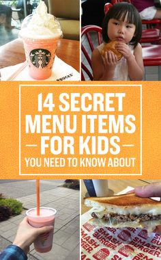 14 Secret Kids' Menu Items You Didn't Know About