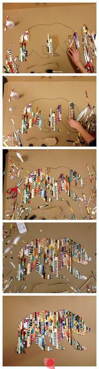 Can't find the source!  But cute idea for recycled paper art!!!!