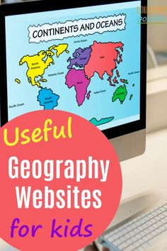 A great way to make your geography lessons fun and engaging for your middle schooler, is to go online and add one of these geography websites into your homeschooling day. By studying geography, children get to know the countries and cultures of the world. Geography Lesson Plans, Geography Activities, Geography For Kids, Geography Classroom, Geography Revision, Geography Quotes, Geography Quiz, Geography Worksheets, Human Geography