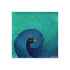 NOVICA Blue and Green Mayura Hinduism Peacock Painting Signed Art ($155) ❤ liked on Polyvore featuring home, home decor and wall art
