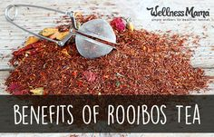 Rooibos tea hasn't yet gained the popularity that green tea and mate tea have, but it turns out that Rooibos may have just as many benefits, if not more, than these well-known teas. It is important to note that Rooibos is technically an herbal tea and not a true tea. It is naturally caffeine-free, mildly sweet and delicious with a taste reminiscent of honey and roses!