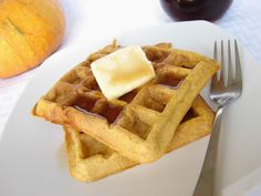 The Royal Cook: Pumpkin Waffles with Cinnamon Maple Syrup