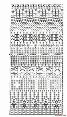 Tutorial: Crochet chart reading Explained nicely for a beginner.Discover thousands of images about Tutorial: Crochet chart readingCROCHET - Lovely Feminine Wide Boarder Lattice Stitch Pattern (Asian Pattern, Found on Russian Website (allmyhobby. Crochet Baby Dress Pattern, Crochet Diagram, Crochet Chart, Filet Crochet, Crochet Motif, Crochet Doilies, Crochet Lace, Crochet Summer, Crochet Stitches Patterns
