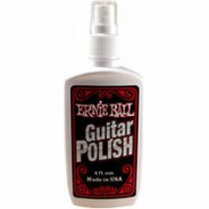 Ernie Ball 4223 Guitar Polish by Ernie Ball. $3.29. Amazing formula is free of oily film & dusty powder. No wait to wipe off. May also be used for cleaning plastic dust covers and compact discs (Available in 4 oz. bottles). Save 27% Off!