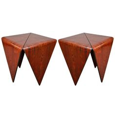 Pair of Jorge Zalszupin Side Tables | From a unique collection of antique and modern side tables at http://www.1stdibs.com/furniture/tables/side-tables/