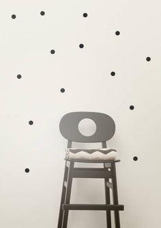 Ferm Living Muursticker mini stippen Wall Stickers - Mini Dots zwart