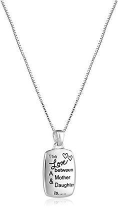 Mother/Daughter Engraved Rectangular Pendant Necklace * Very nice of you to drop by to visit our image. (This is our affiliate link)