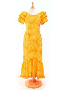 Good Times 378 Big Ruffle Sleeve Dress [Yellow] | AlohaOutlet SelectShop