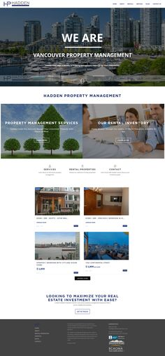 New WordPress website for Hadden Property Management a North Vancouver Property Management company. Management Company, Property Management, Rental Property, Investment Property, Real Estate Site, Real Estate Investing, North Vancouver, Wordpress, Website