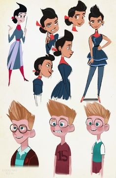 Some of these aren't the best, but whatevah! We both love Meet the Robinsons! (And the book too) It got us through some rough middle school days. I wanted to do all of the characters..but maybe...