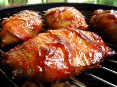 Smoked Bacon Wrapped Chicken Breasts Recipe - Food.com