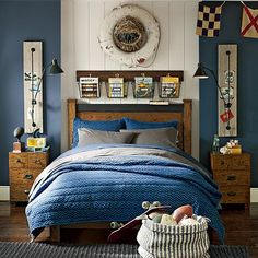 Colin's Room:  I love the Emerson Bed on pbteen.com