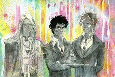 """Chaosti, Aaron and Khary (Khardeen) - Warhold and Warchold Lords from Black Jewels Trilogy by Anne Bishop  """"Black Jewels Trilogy"""""""